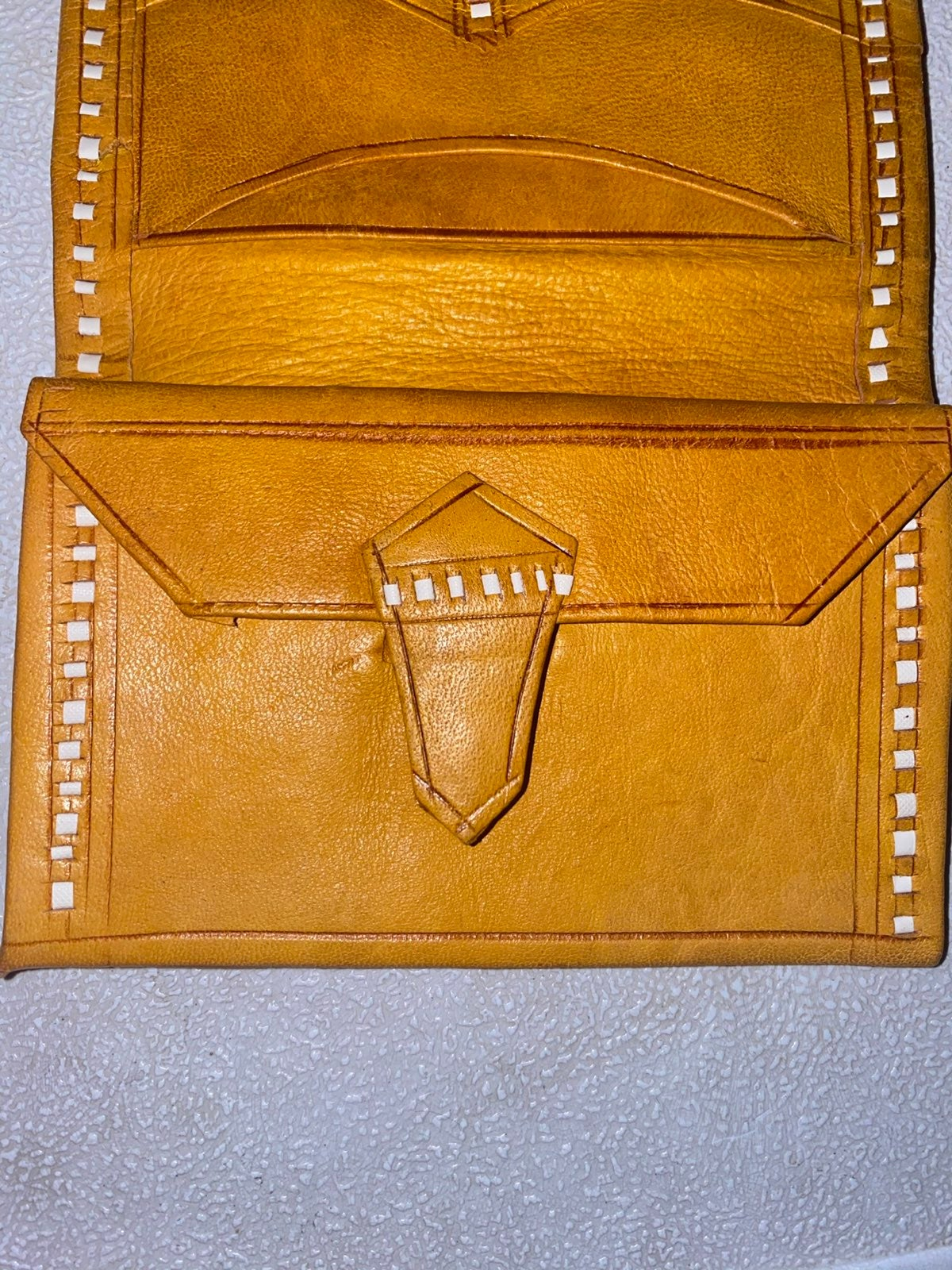 Native handmade, genuine leather wallet