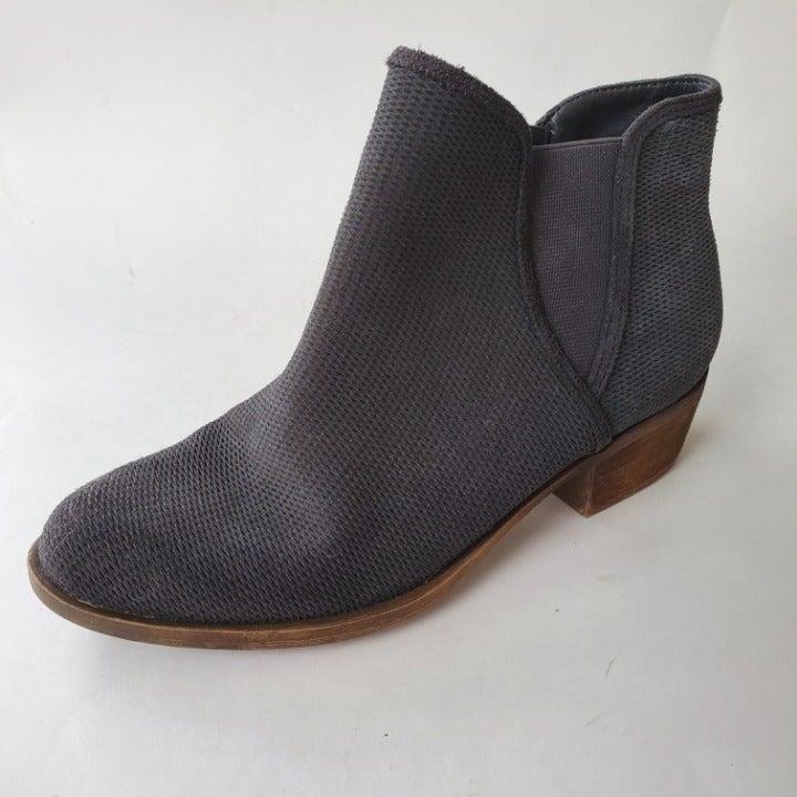 Kensie Womens Gerona Gray Leather Suede
