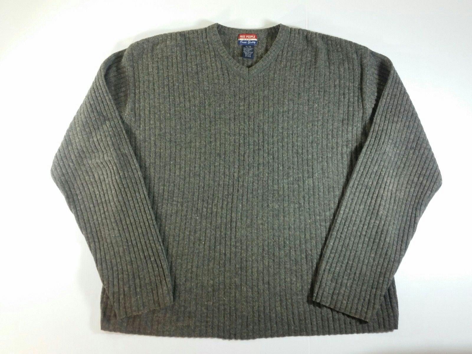 Mens Free People Lambswool Sweater XL
