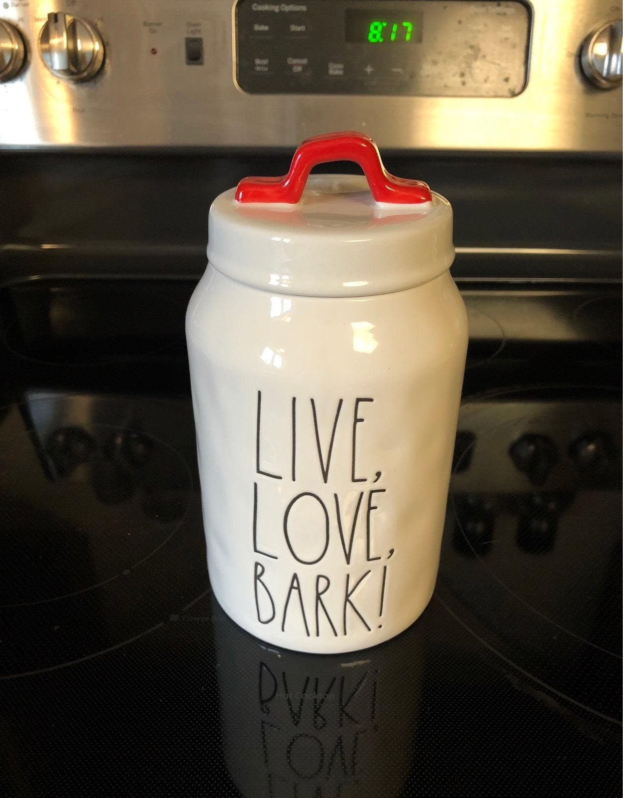 Rae Dunn Live, Love, Bark! Canister