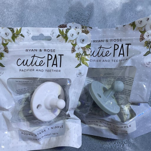 Cutie Pat stage 1 pacifiers