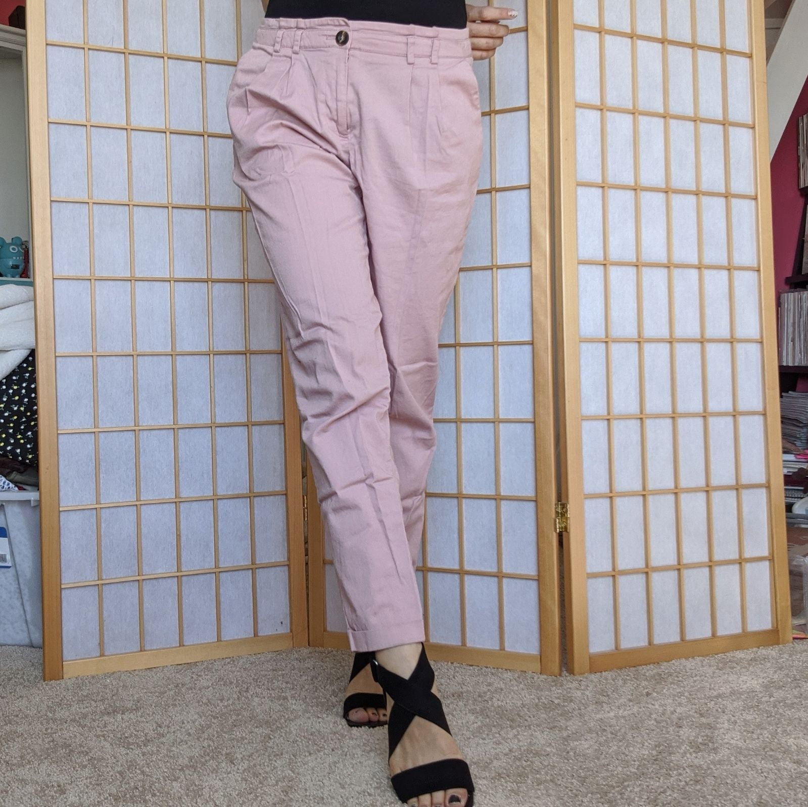 Blush Pink pleated pants