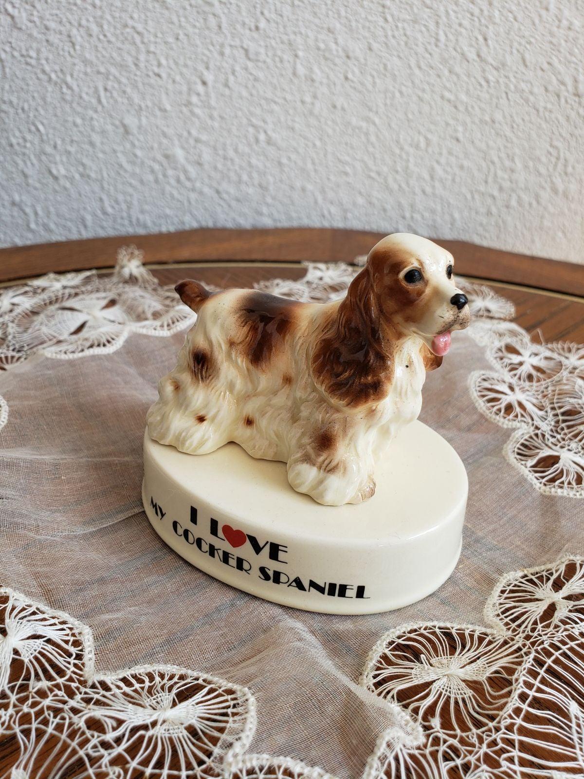 I LOVE MY COCKER  SPANIEL  porcelain dog