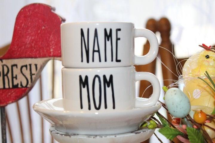 Personalize Mini Ceramic Tea & Cup Sauce