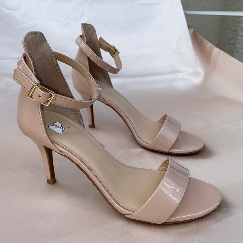 BP Nude/Blush PU Leather Heels