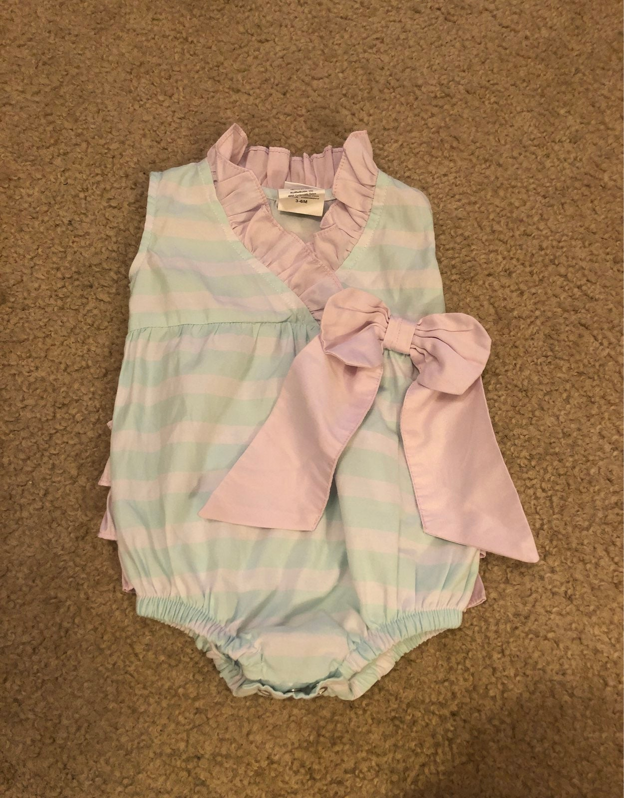 Ruffle Butts striped onesie 3-6 months