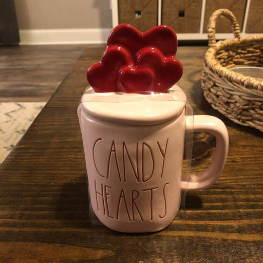 Rae Dunn Candy Hearts with Heart Topper
