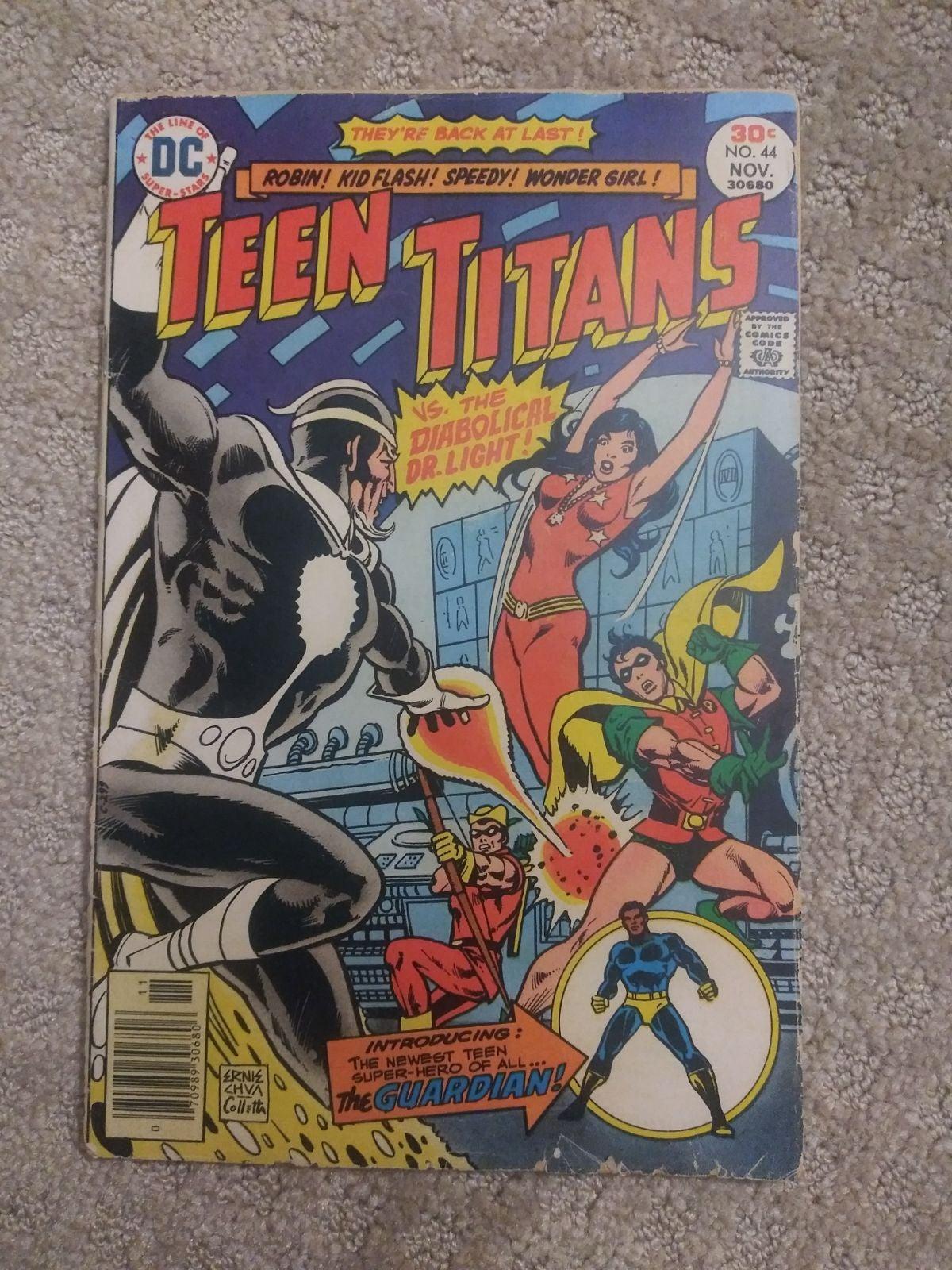 TEEN TITANS 44 1ST NEW GUARDIAN 1976