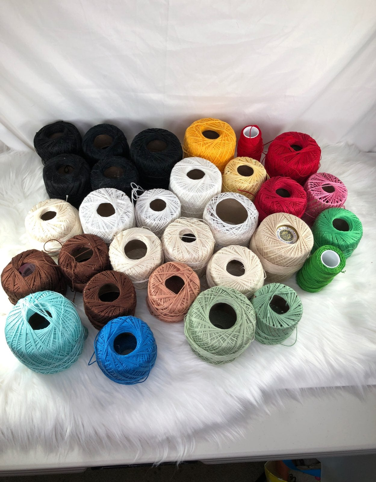 Mixed Lot Crochet Thread 5 lbs Boxed
