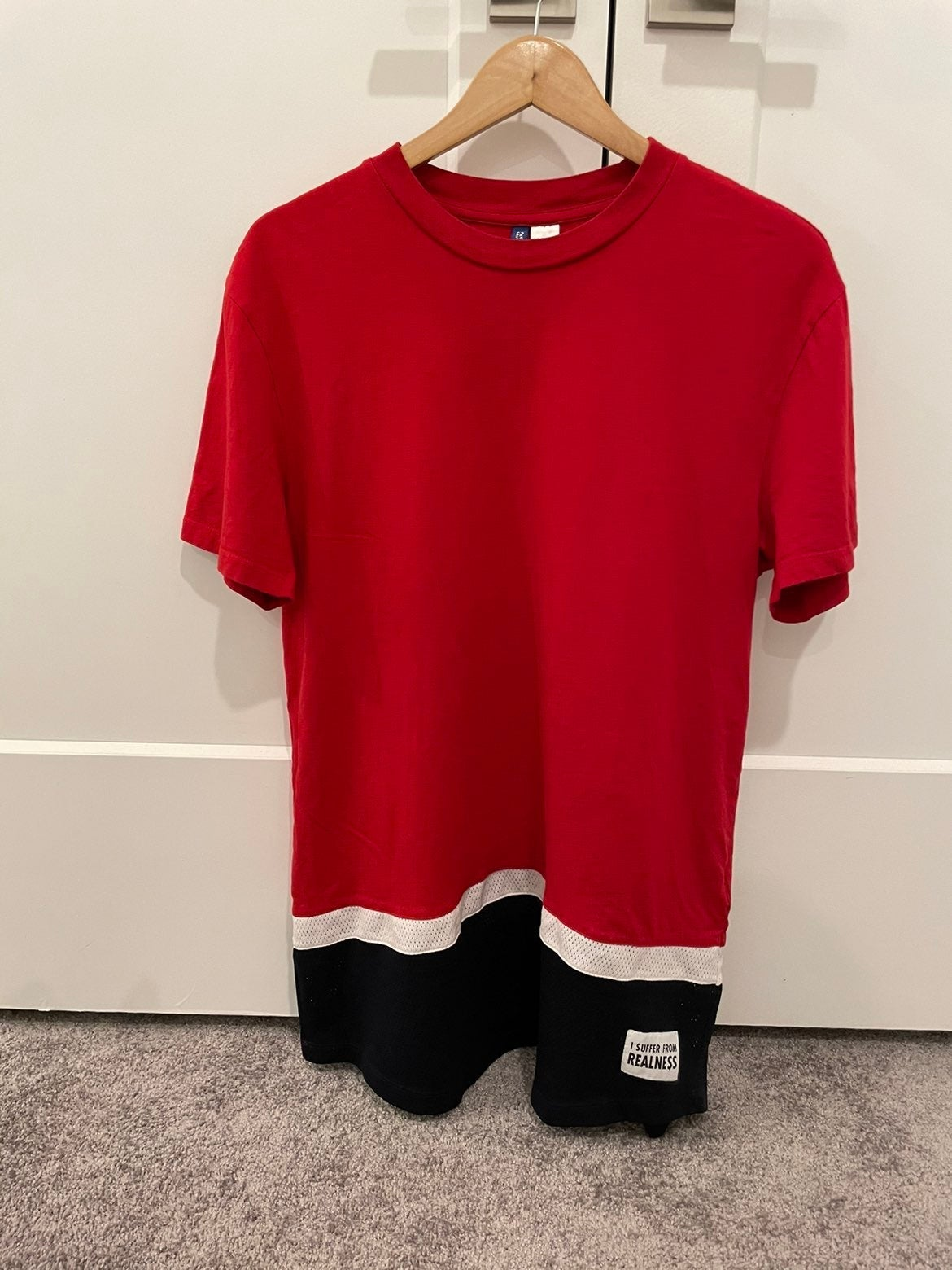 Divided Red T-shirt