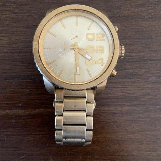 Big Face Diesel Gold Watch