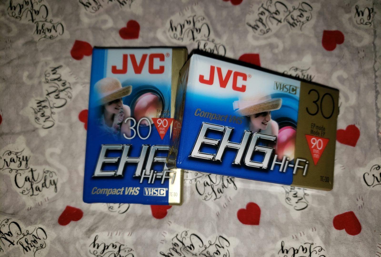 2 JVC EHG Tapes NIP Compact VHS