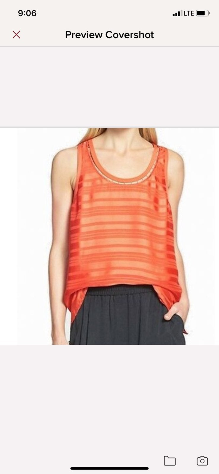 Trouve red Nordstrom lined tank top, sma