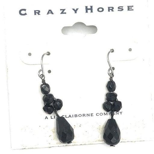 Black Beaded Fashion Earrings - 1477