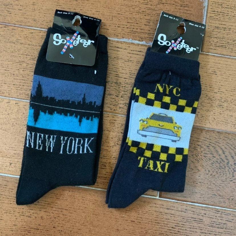 Soxeteer New York Taxi Socks 2 Pair 6-10