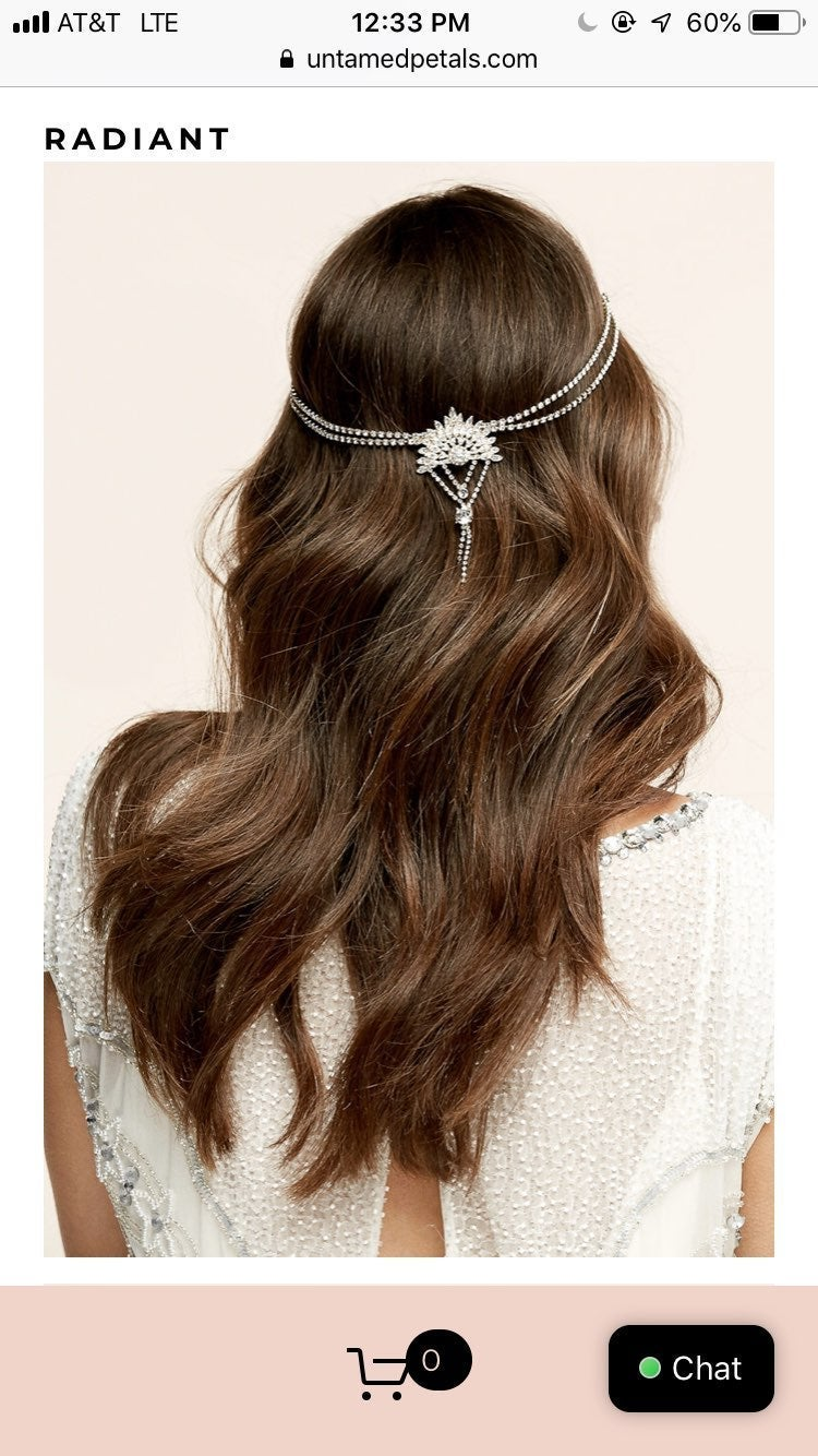 NWT Untamed Petals Bridal Hair Piece