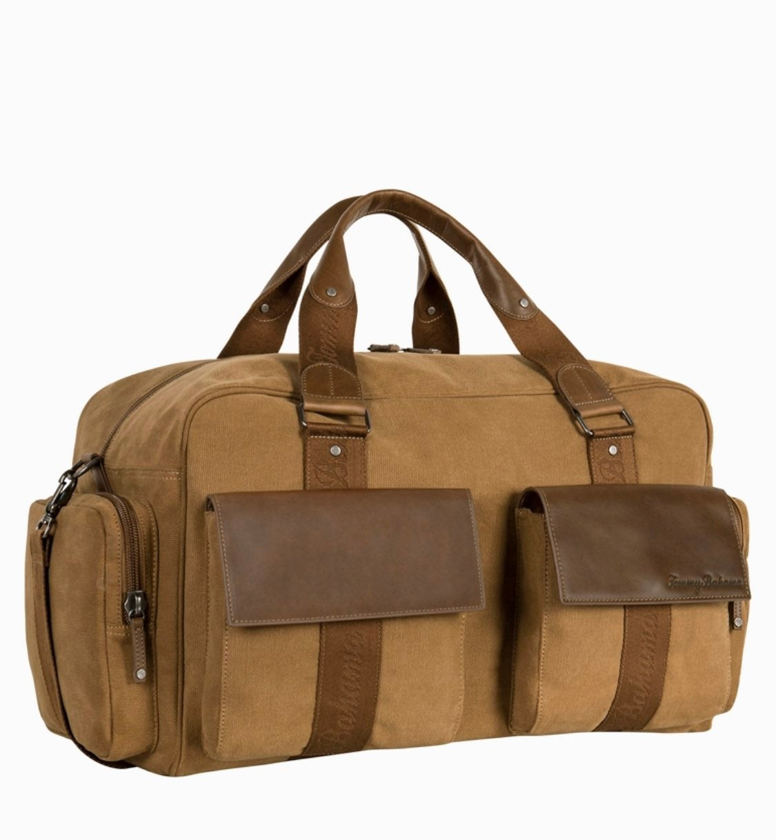 Tommy Bahama Canvas Leather Duffle