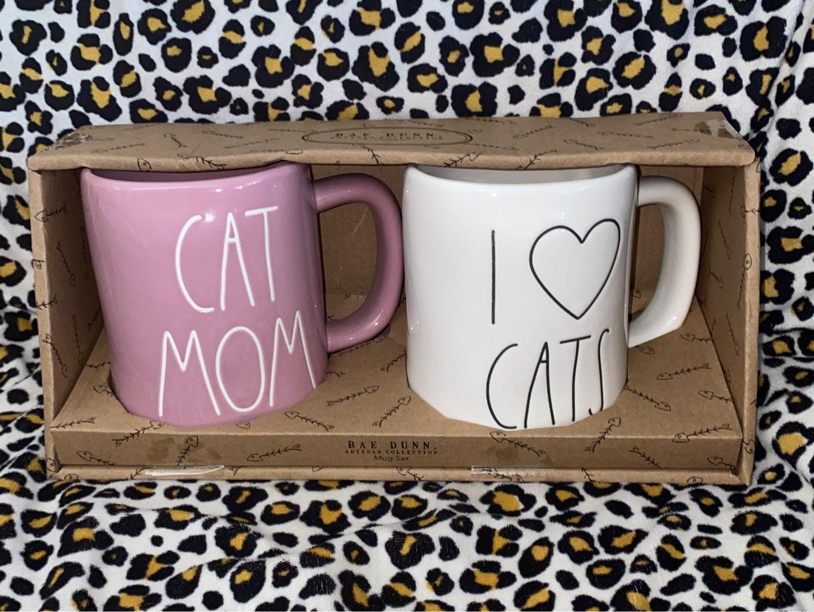 Rae Dunn Cat Mug Set