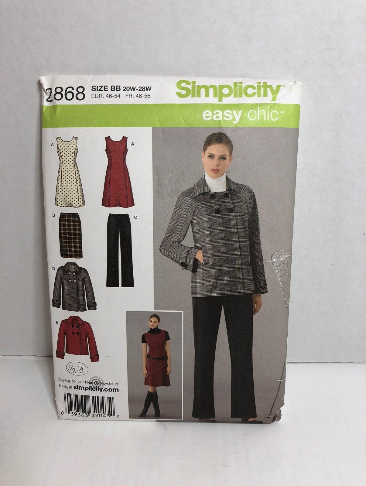 Simplicity 2868 Pants, Skirt Pattern