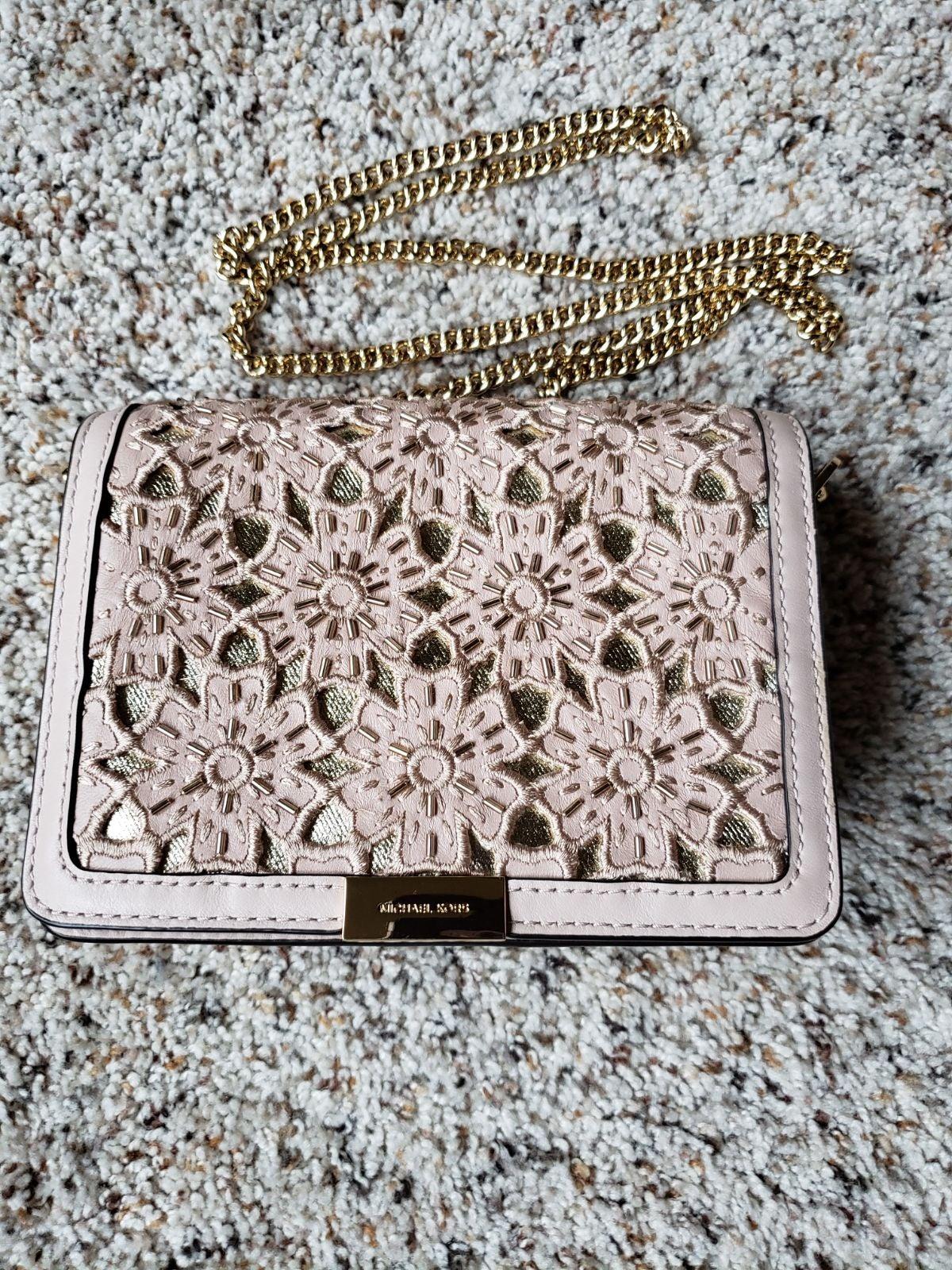 Michael Kors Beaded Floral Bag $298