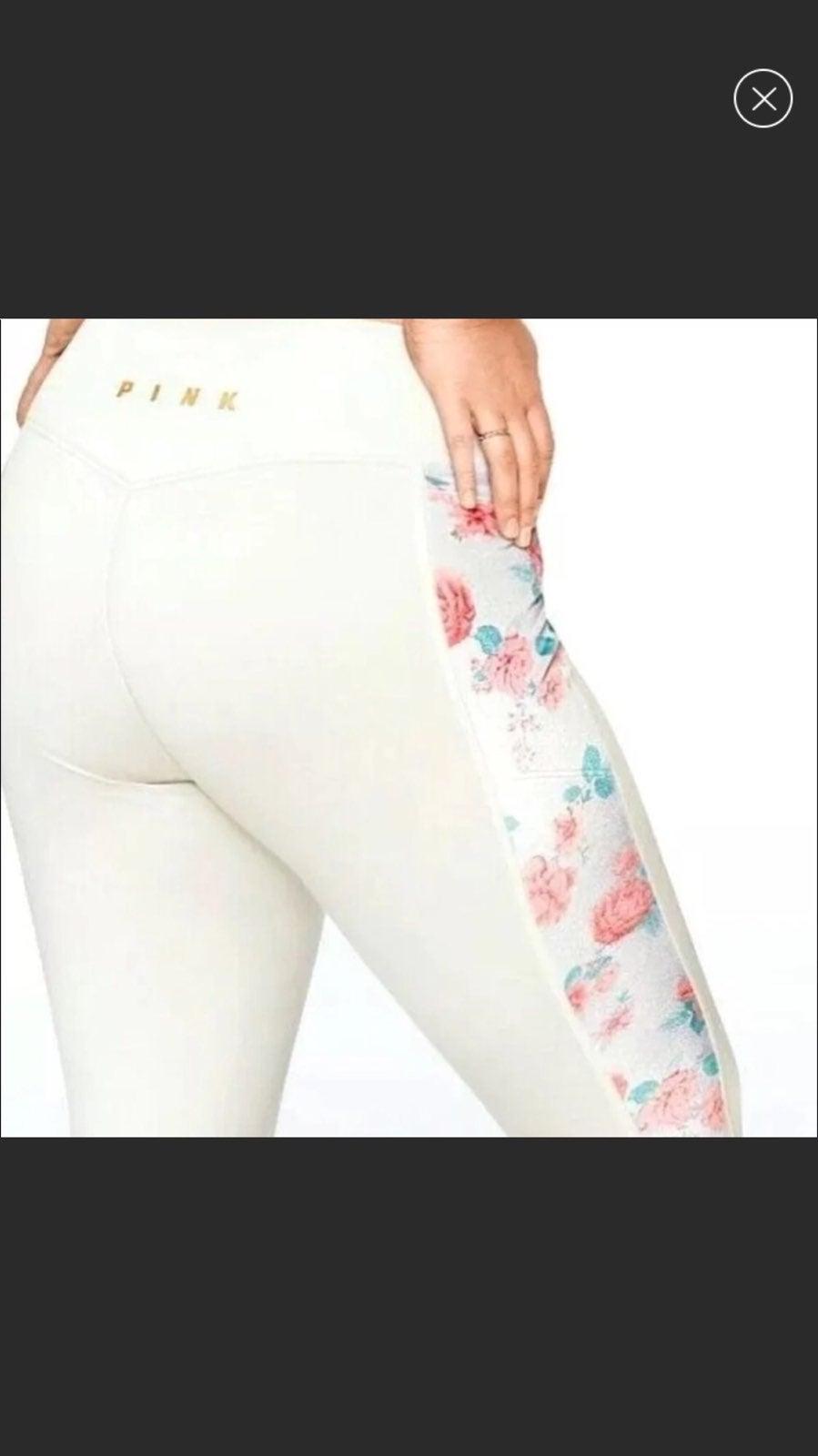Fleece  lined  pink leggins size Medium