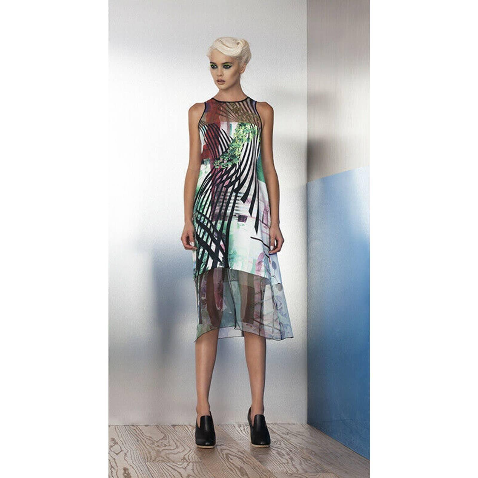 Clover Canyon Shift Tunic Dress Midi M