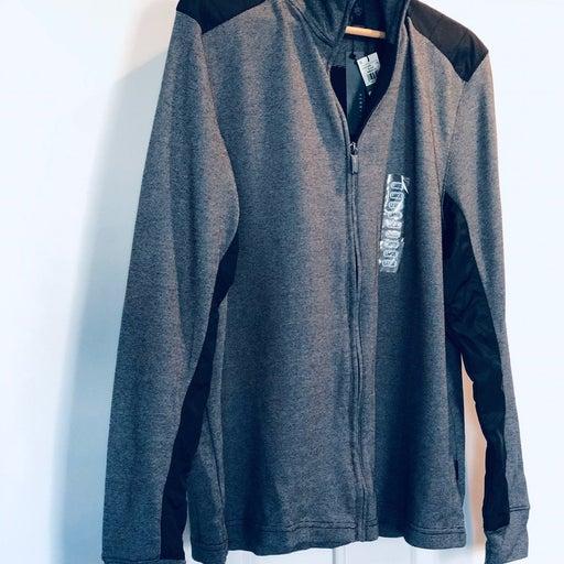 NWT Men's Perry Ellis Full Zip Sweater L