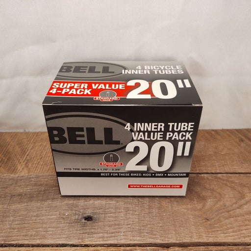 """New Bell 4 pack 20"""" Bicycle Tubes"""
