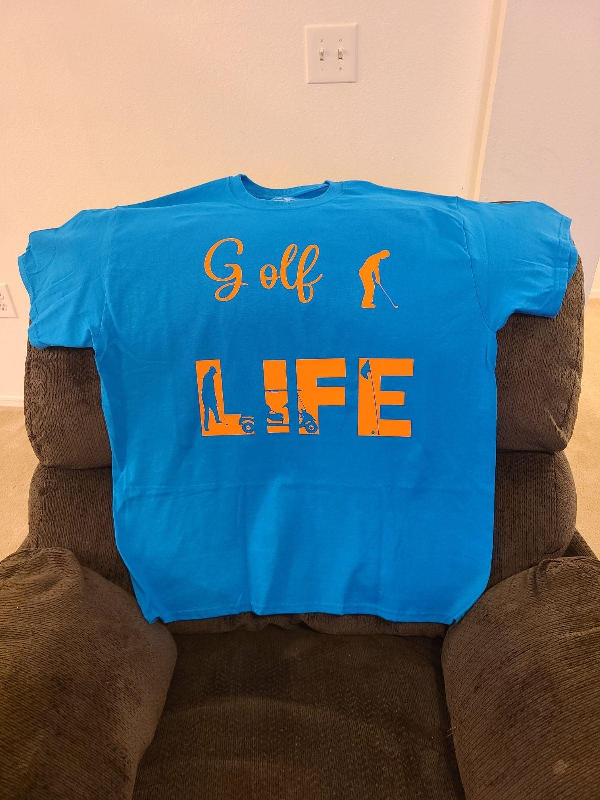 Golf Life t-shirt read details