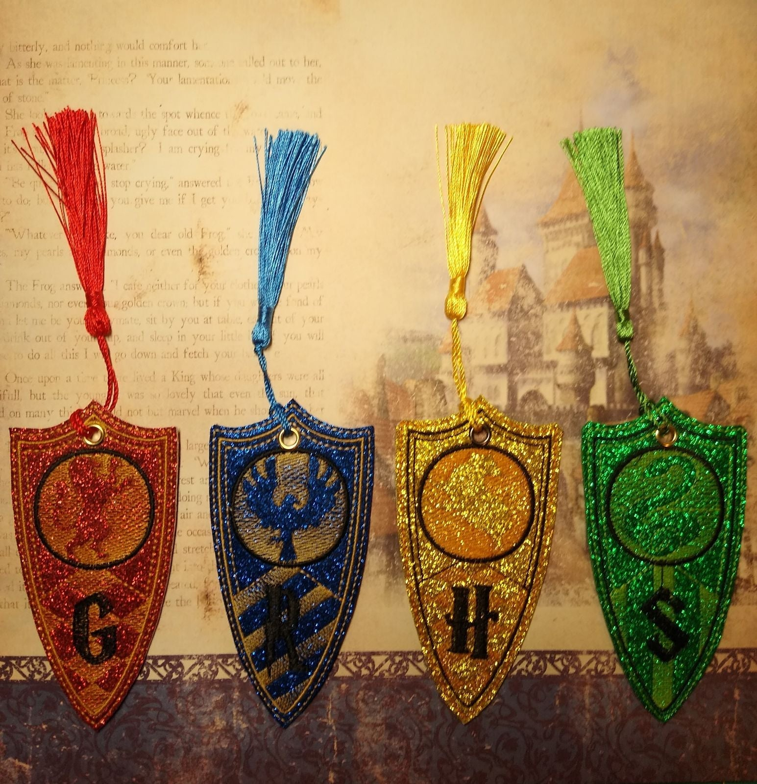 HP Houses Set of 4 Bookmarks