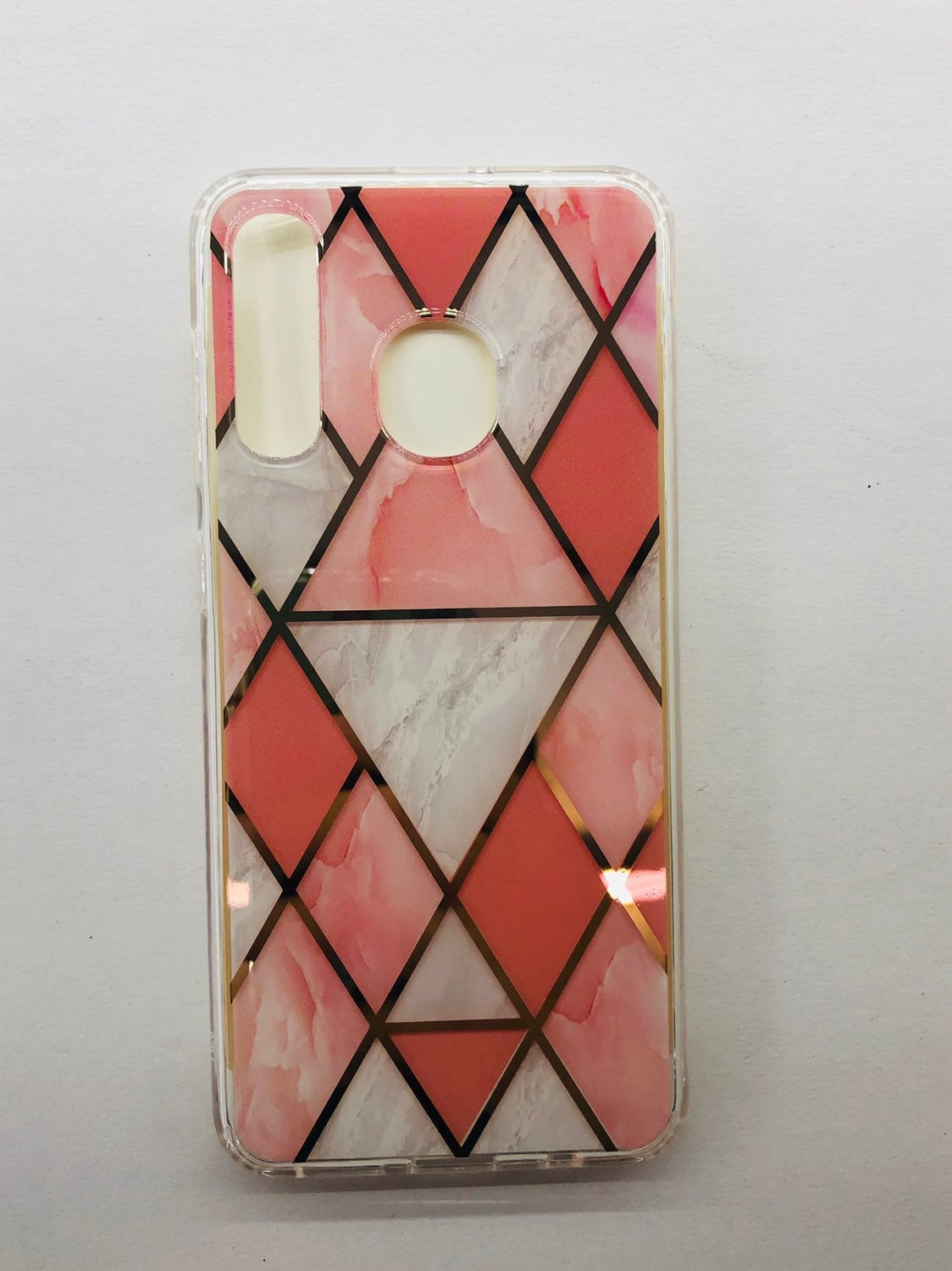 Galaxy A20 A50 Geometric Design Coral