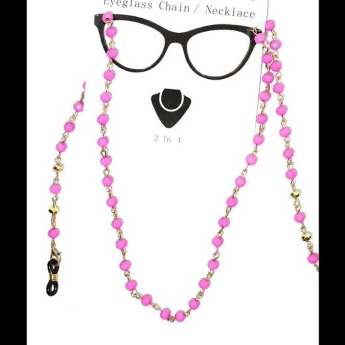 Beaded Eyeglasses Chain/ Necklace