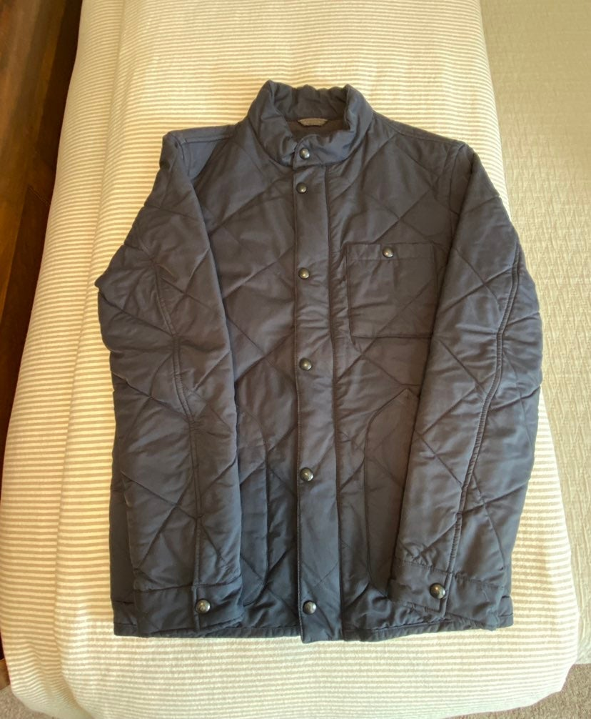 J CREW QUILTED JACKET COAT MEN'S