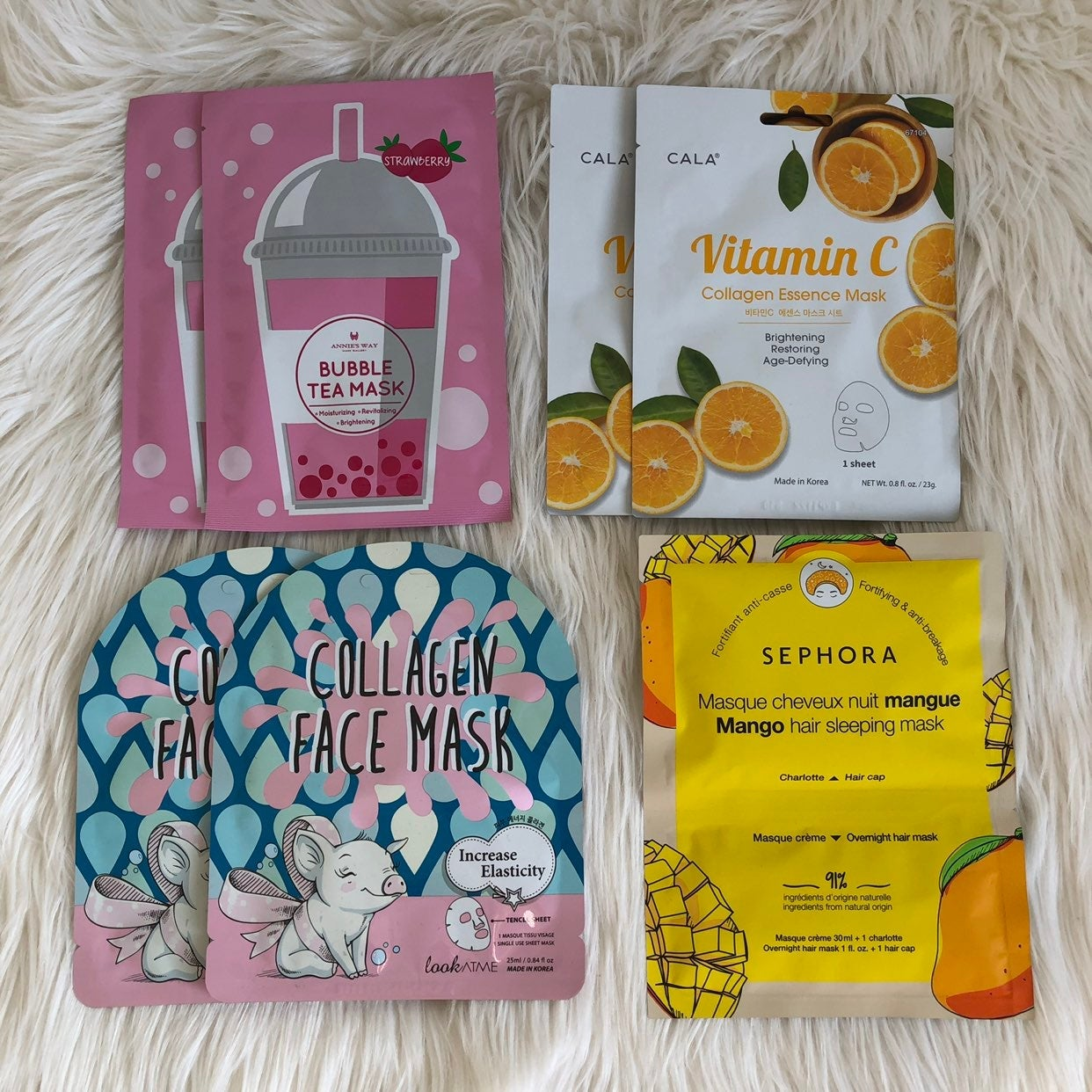 Facial Face mask sheet mask hair mask