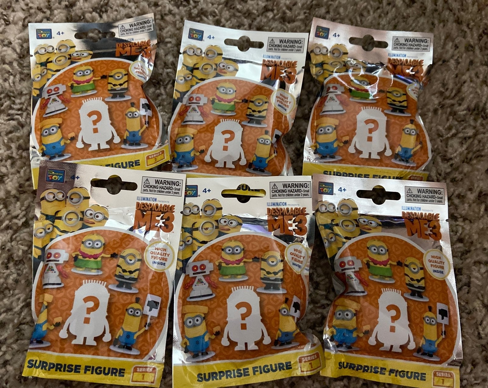 Bundle of surprise figures despicable me