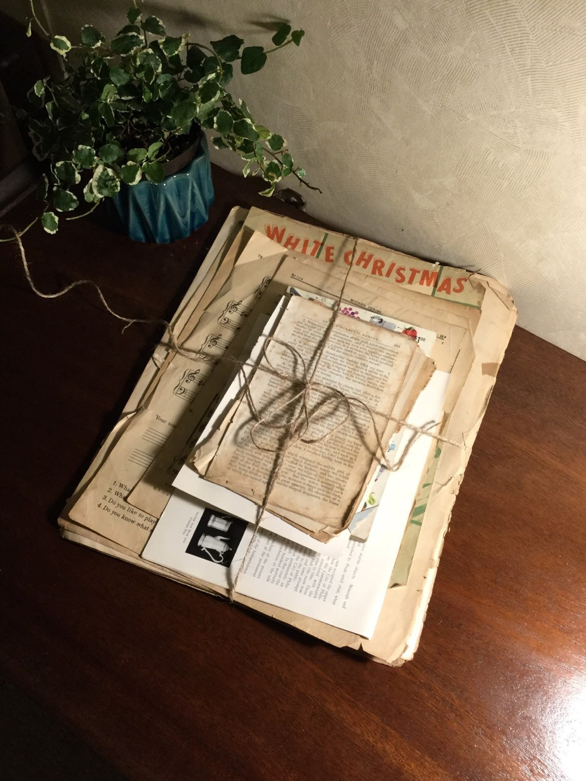60 pages of Ephemera, Vintage paper, an