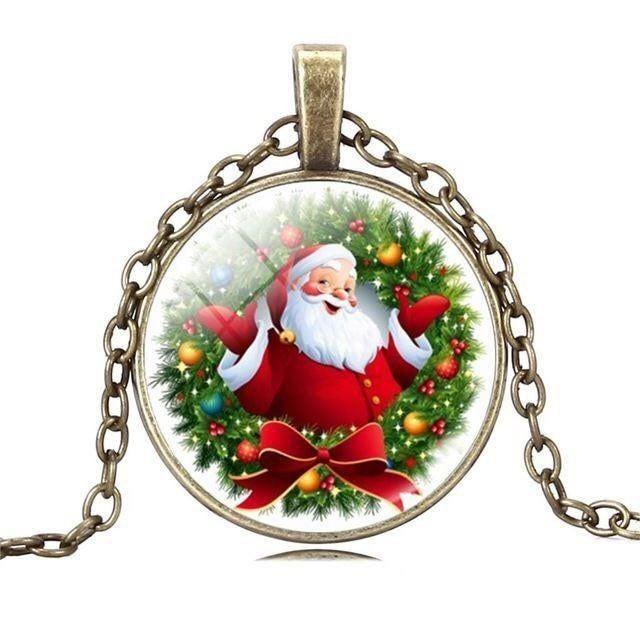 Christmas santa claus necklace