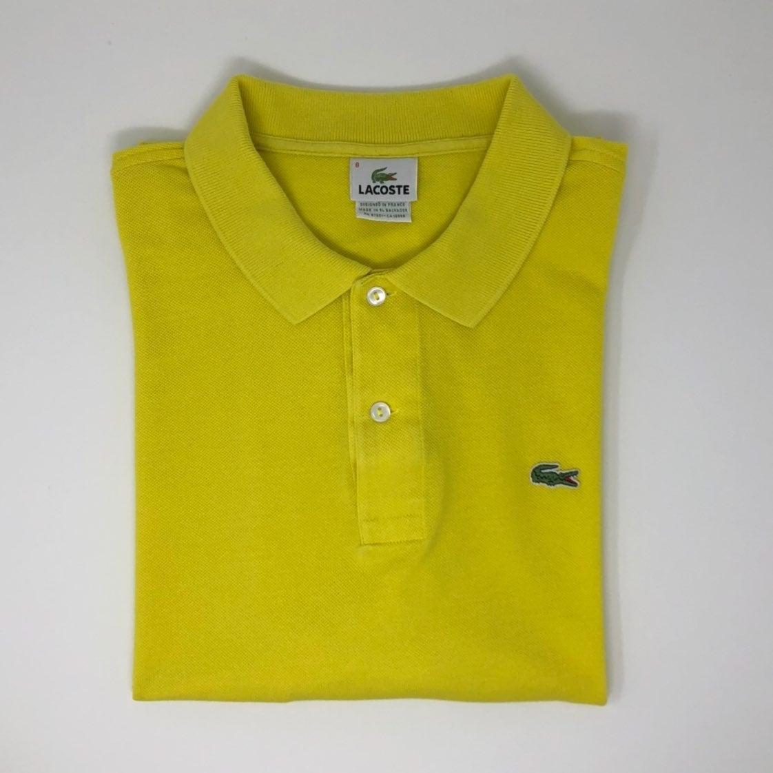 Lacoste Yellow Polo Shirt Size 8