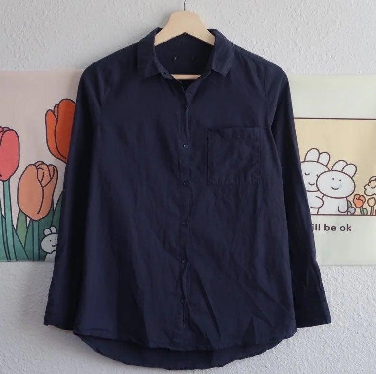 Blue Cotton Blouse  Cotton On  Size XS