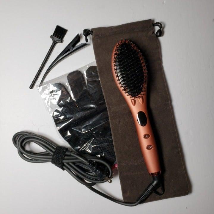 Glamfields Straightening Brush- Open Box