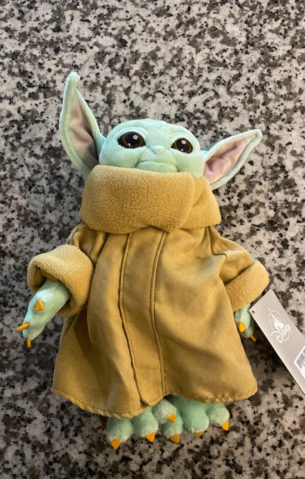 Disney parks baby yoda plush 11in