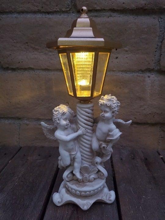 Bronze Lantern - Playful Cute Twin Angel