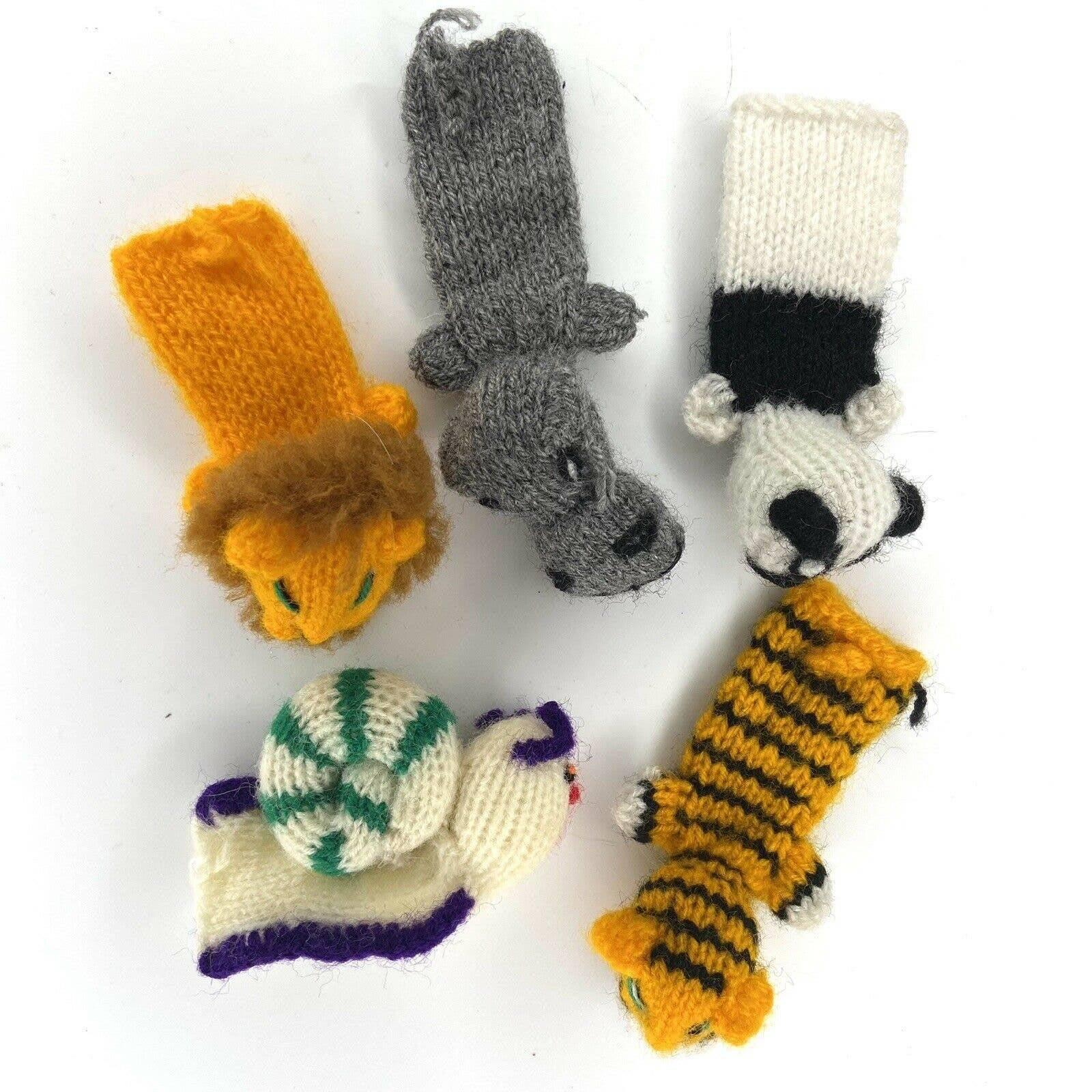Peruvian Wool Finger Puppets Lot of 5