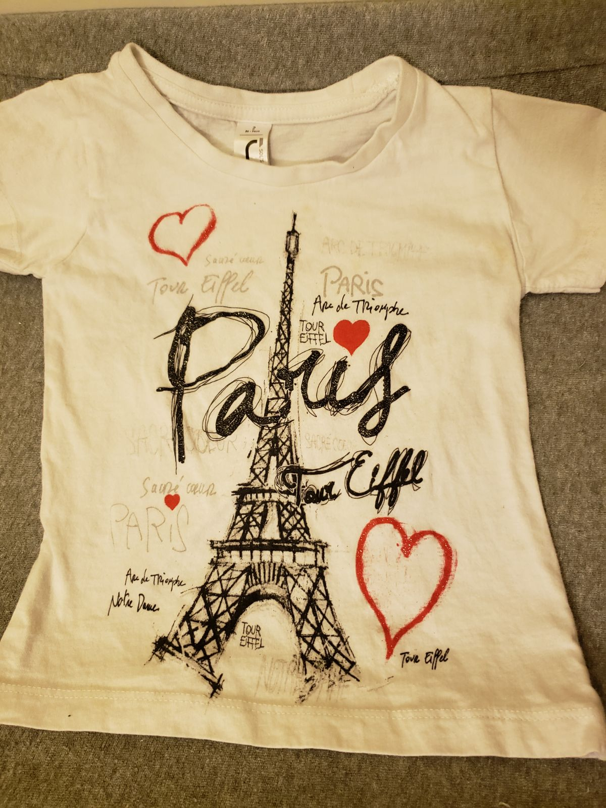 Sparkly Paris Girls 2T Shirt