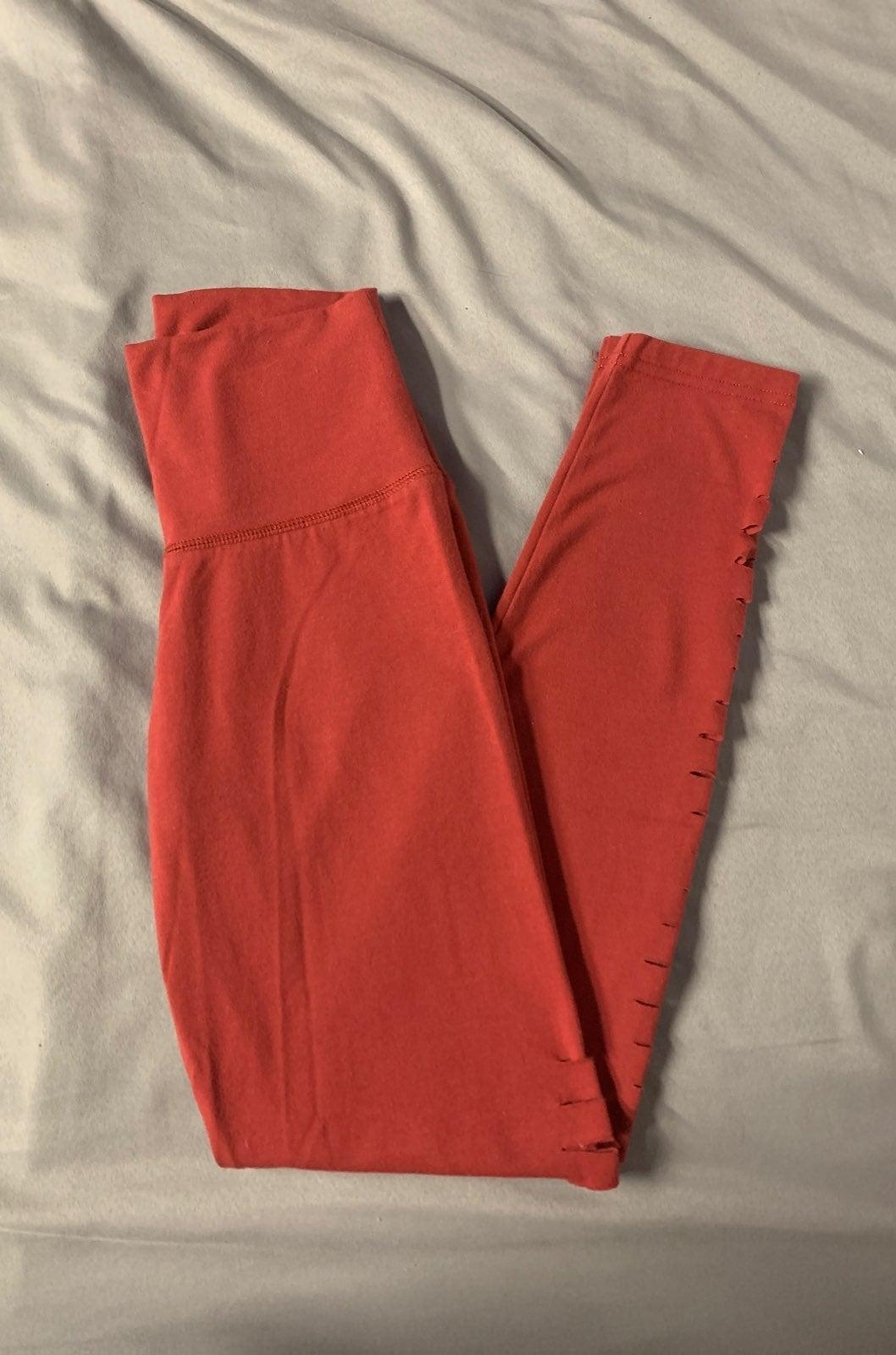 Dark red aerie leggings