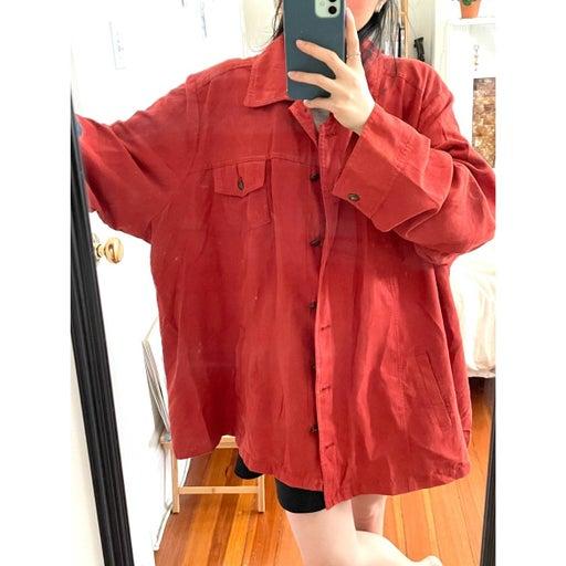 oversized vintage jacket (velvet texture