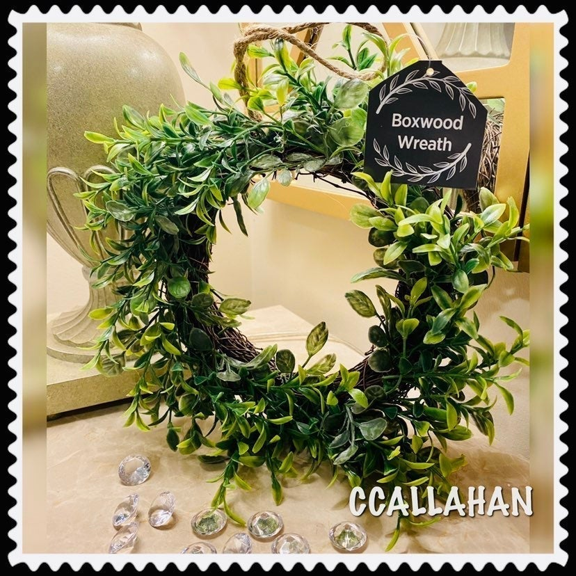 Farmhouse Faux greenery wreath