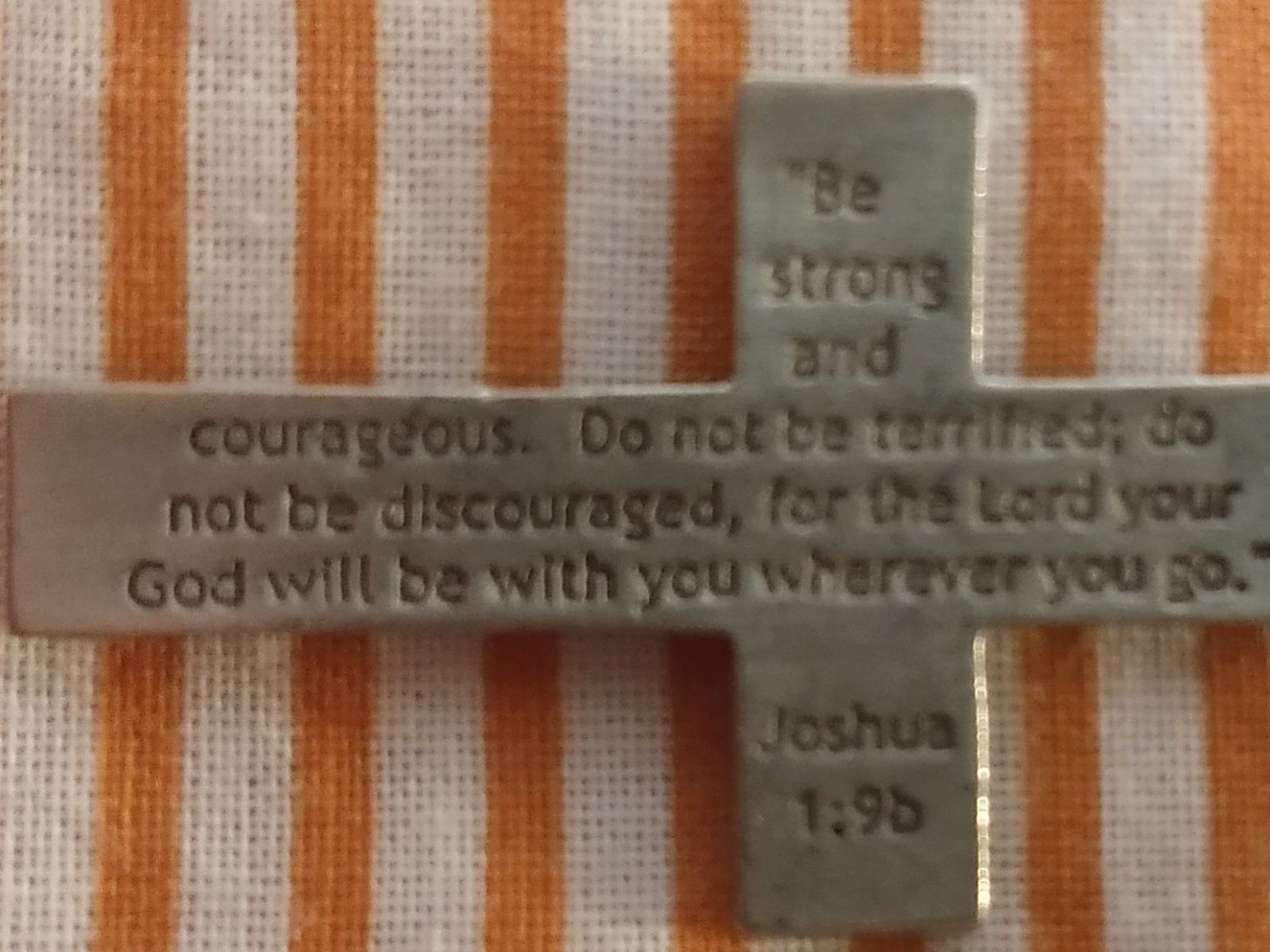 Cross Necklace with Bible Quote