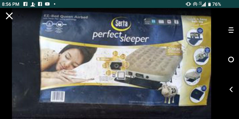 SERTA PERFECT SLEEPER--EZ-BED-QUEEN SIZE