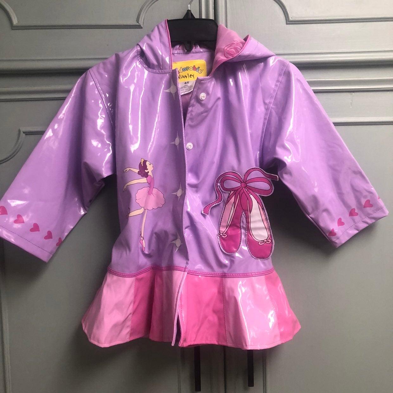 Kidorable ballerina raincoat sz 4T